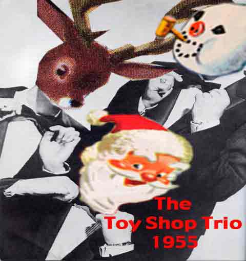 The Toy Shop Trio - Christmas Card by Doug Nunn